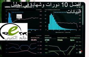 أفضل 10 دورات وشهادة في تحليل البيانات